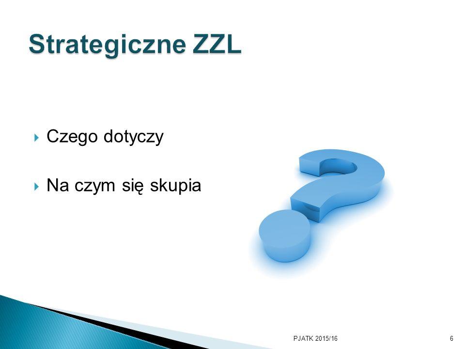 Strategiczne ZZL Czego dotyczy Na czym się skupia PKWSTK 2008/2009