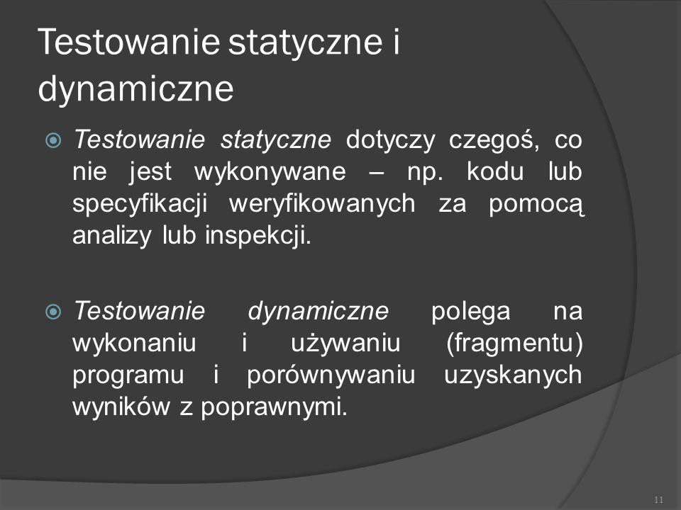 Testowanie statyczne i dynamiczne