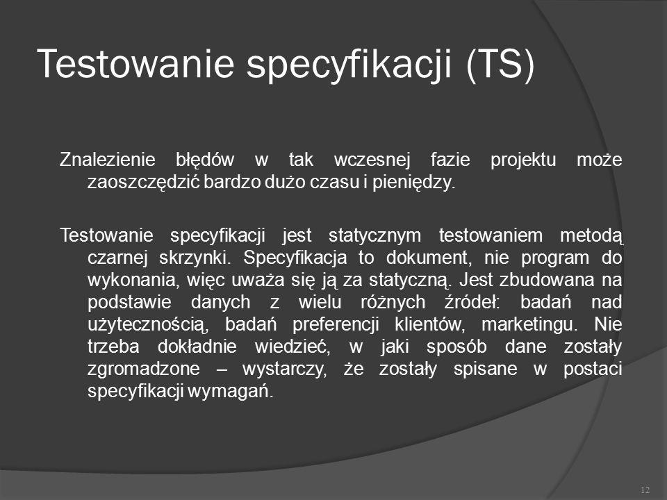 Testowanie specyfikacji (TS)