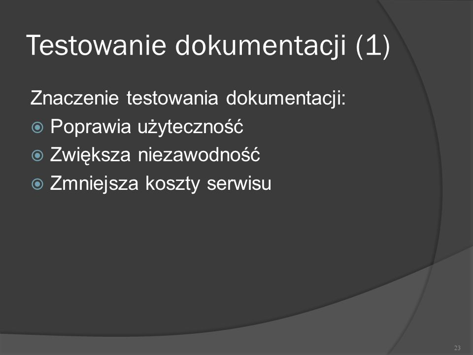 Testowanie dokumentacji (1)