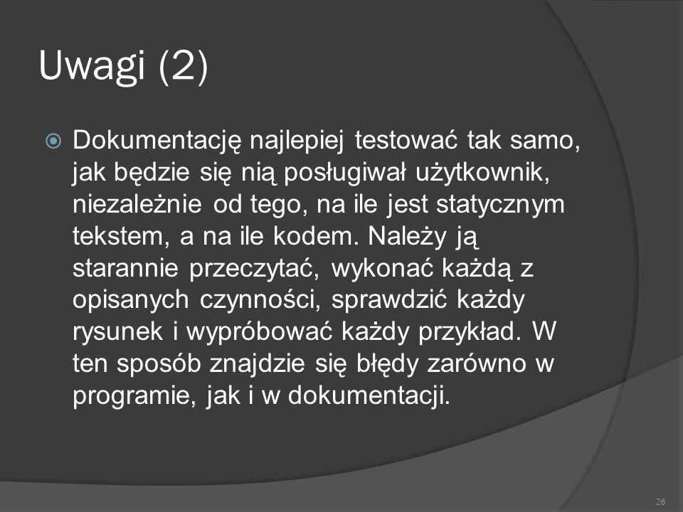 Uwagi (2)