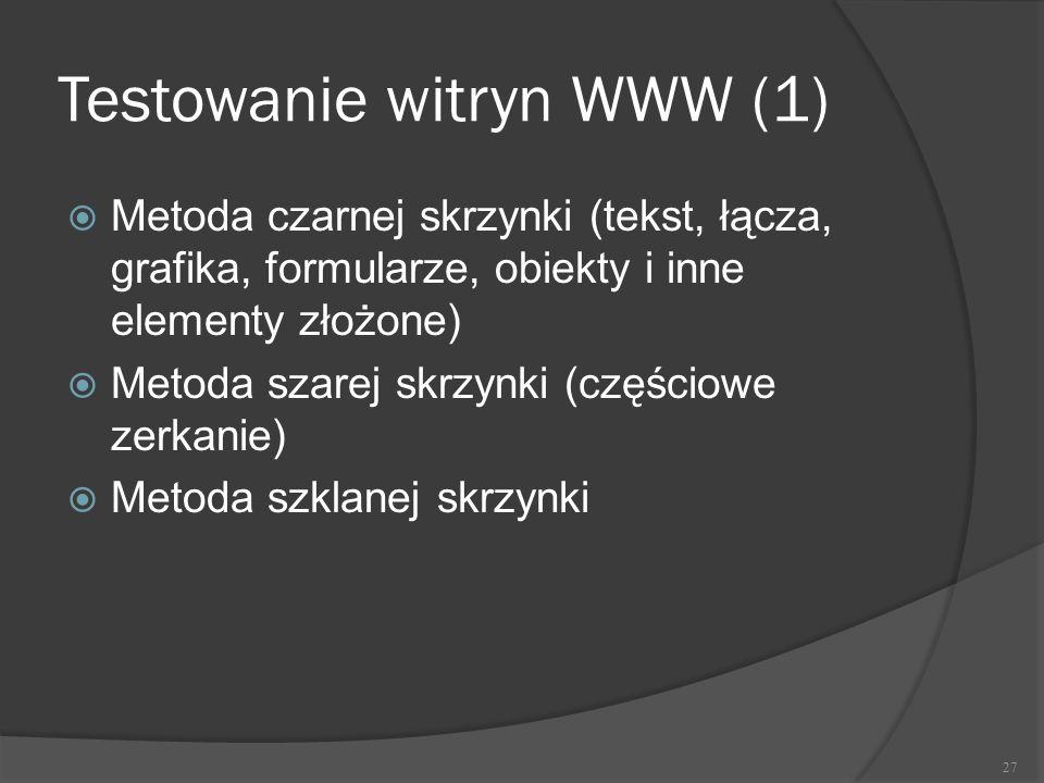 Testowanie witryn WWW (1)