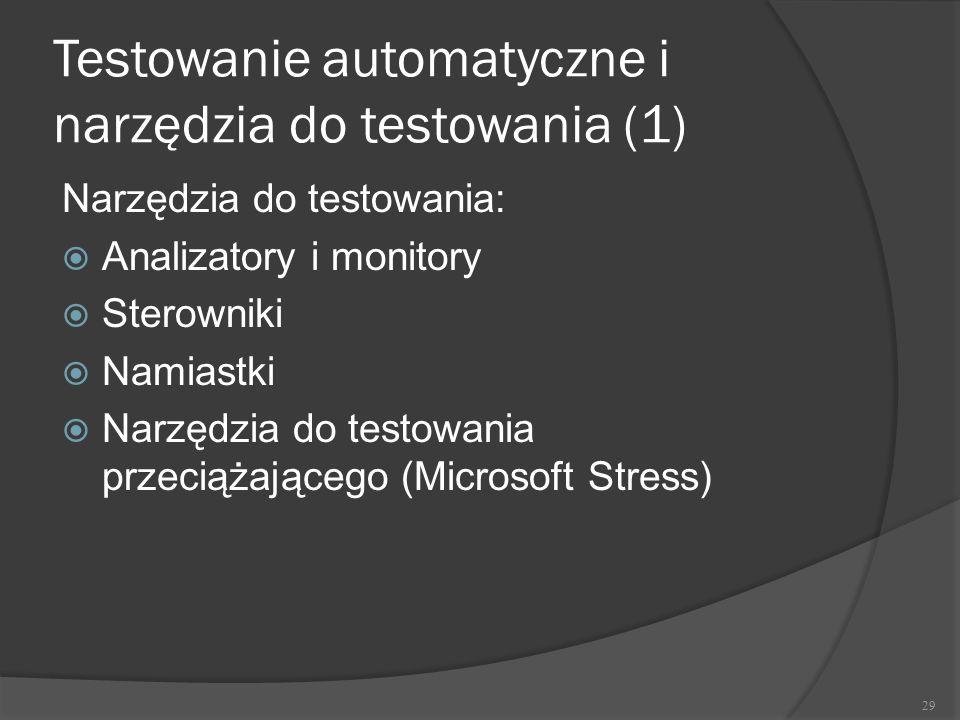 Testowanie automatyczne i narzędzia do testowania (1)