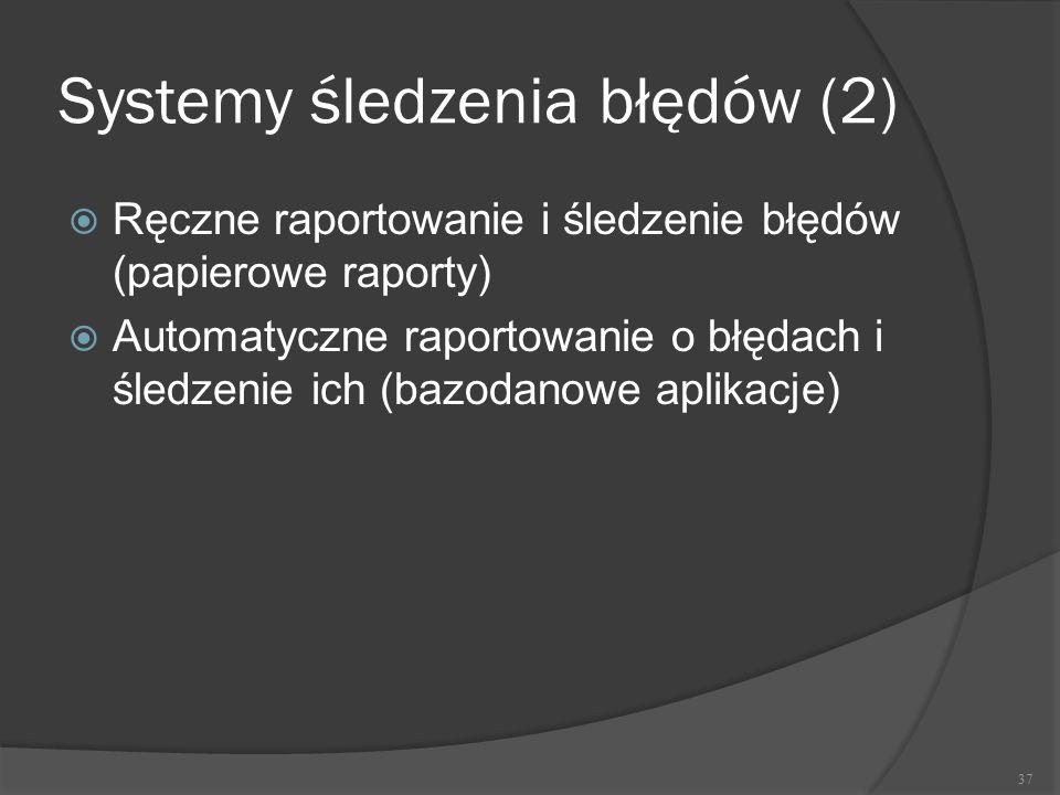 Systemy śledzenia błędów (2)