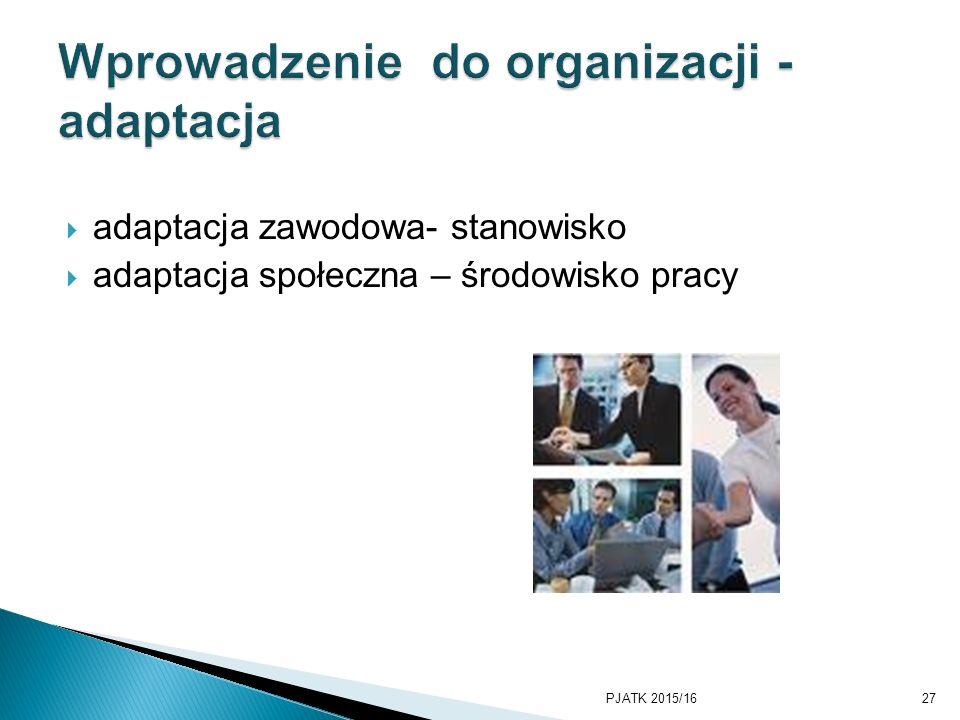 Wprowadzenie do organizacji - adaptacja