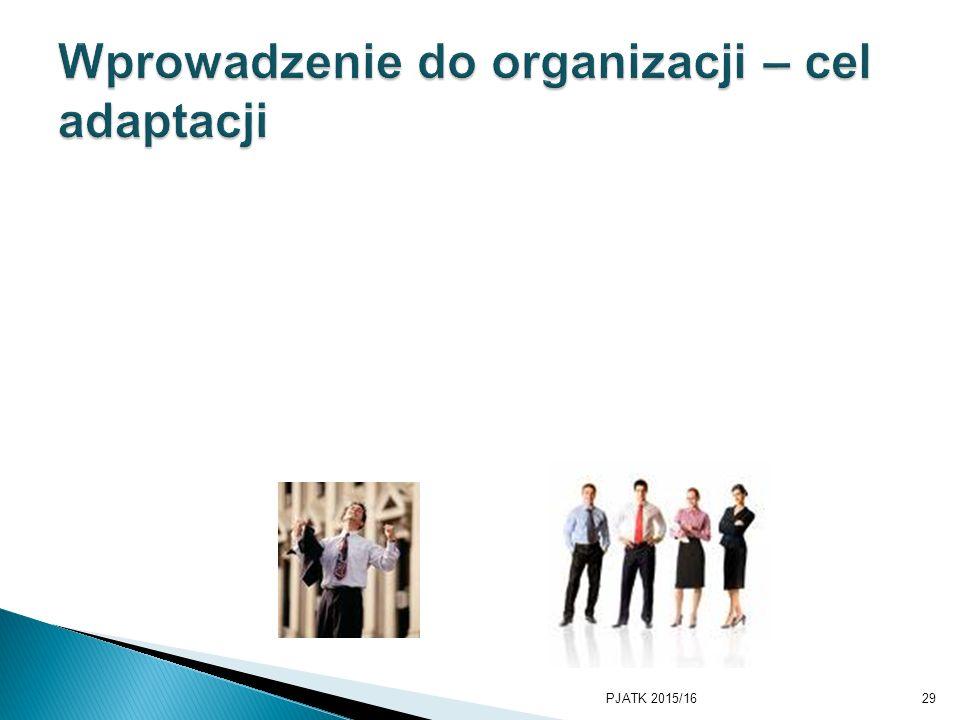 Wprowadzenie do organizacji – cel adaptacji