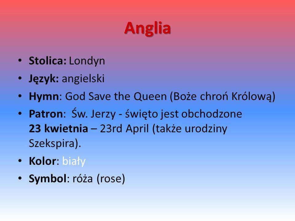 Anglia Stolica: Londyn Język: angielski