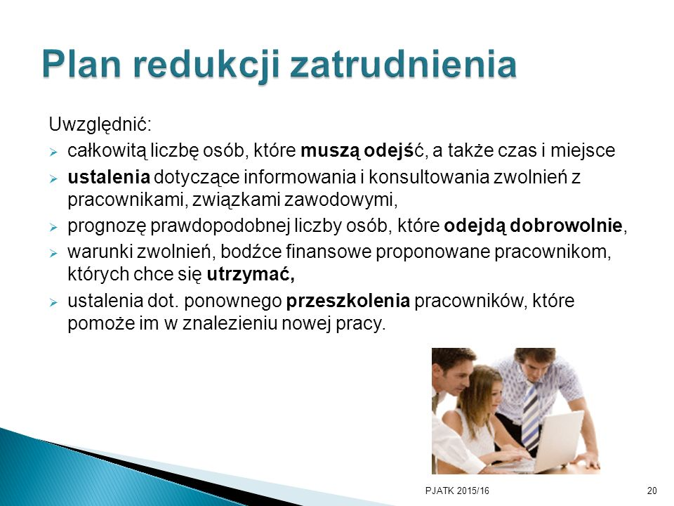 Plan redukcji zatrudnienia