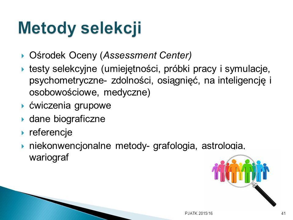 Metody selekcji Ośrodek Oceny (Assessment Center)