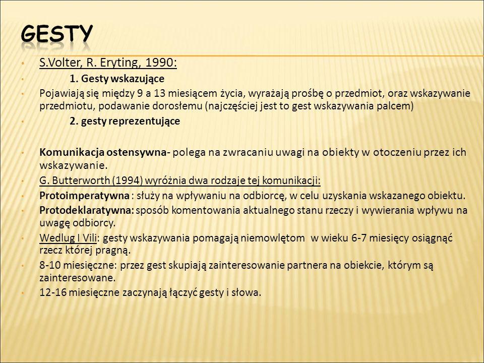 S.Volter, R. Eryting, 1990: 1. Gesty wskazujące.