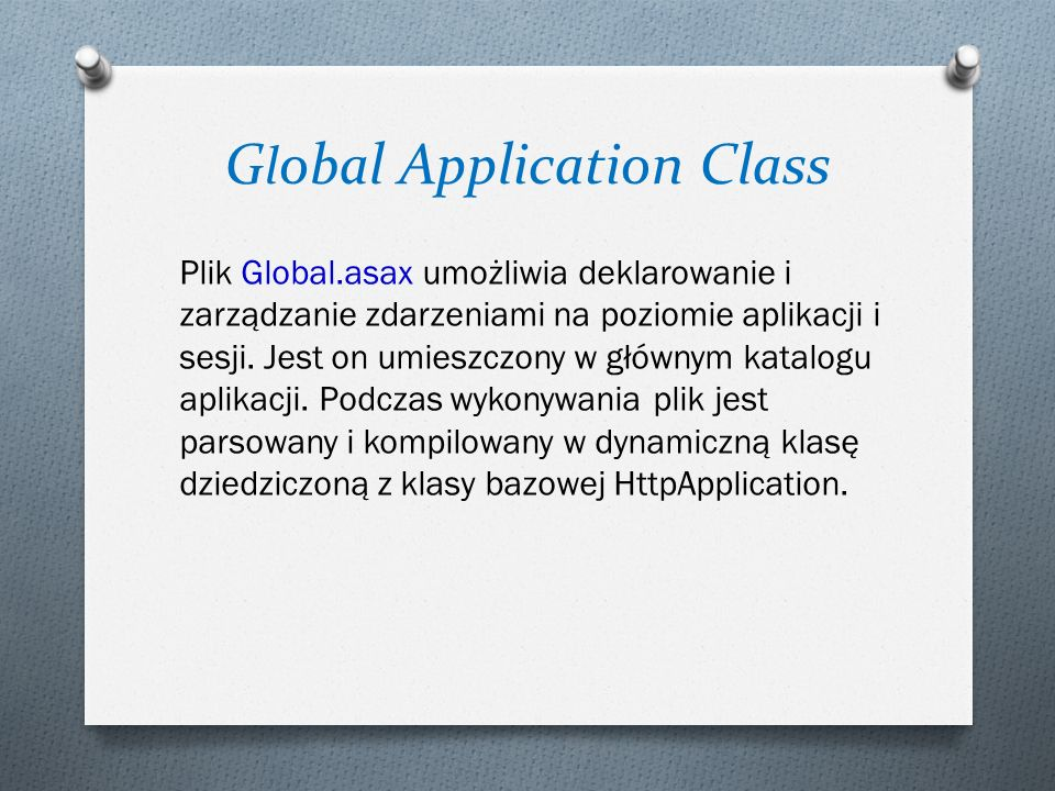 Global Application Class