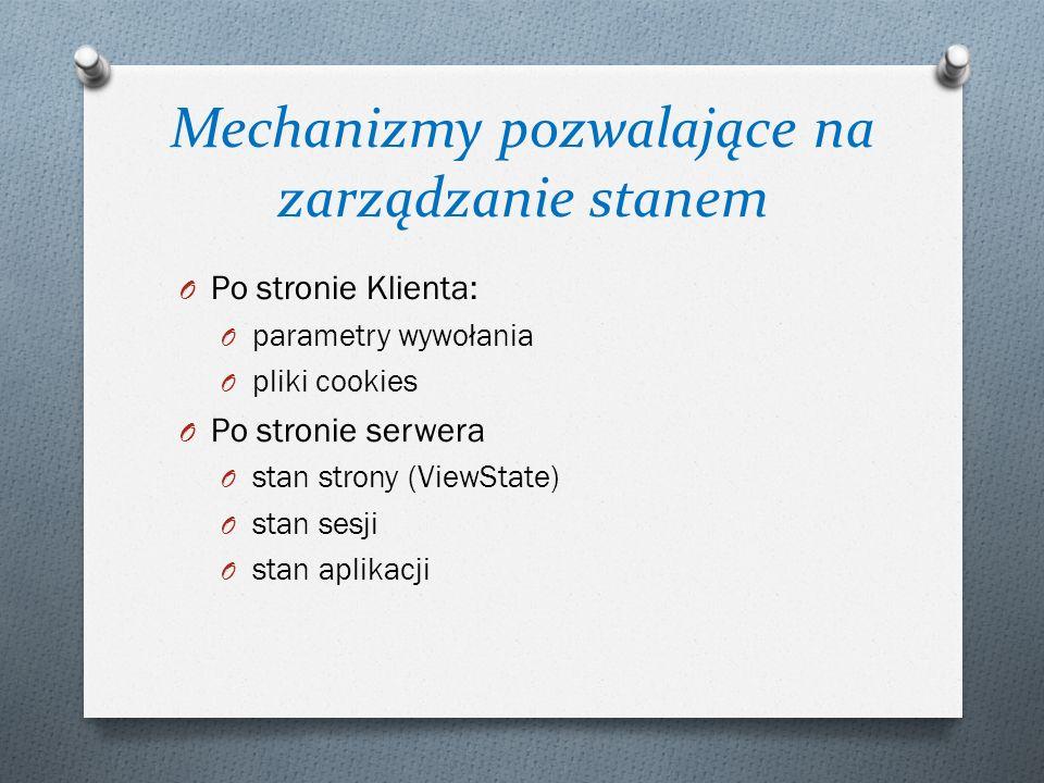 Mechanizmy pozwalające na zarządzanie stanem