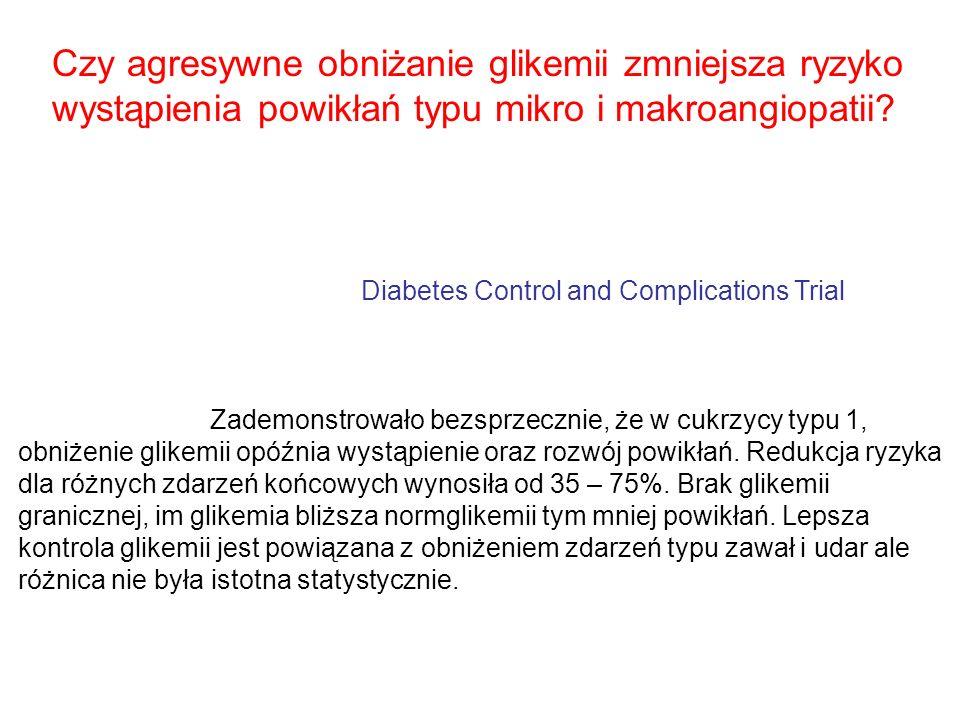 Czy agresywne obniżanie glikemii zmniejsza ryzyko