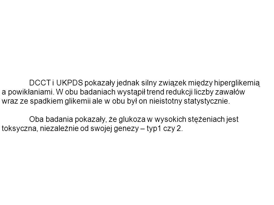 DCCT i UKPDS pokazały jednak silny związek między hiperglikemią