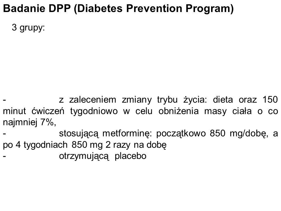 Badanie DPP (Diabetes Prevention Program)