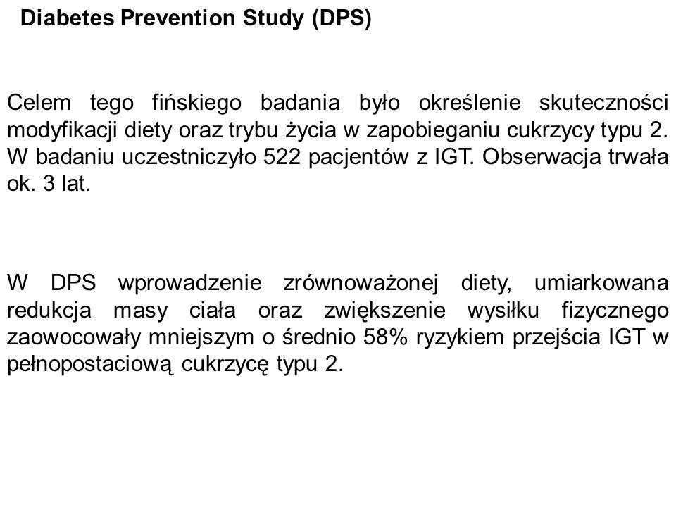 Diabetes Prevention Study (DPS)