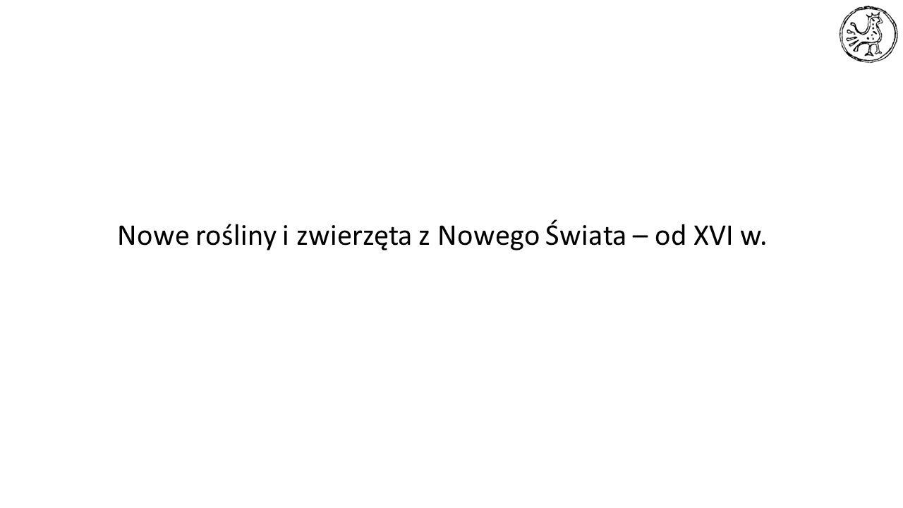 Nowe rośliny i zwierzęta z Nowego Świata – od XVI w.