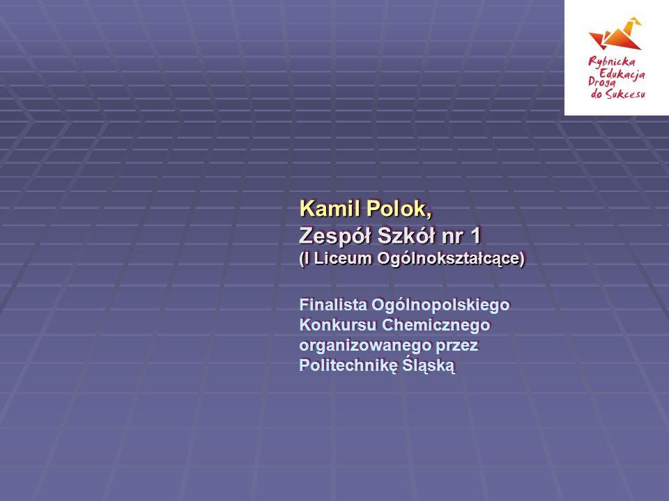 Kamil Polok, Zespół Szkół nr 1 (I Liceum Ogólnokształcące)