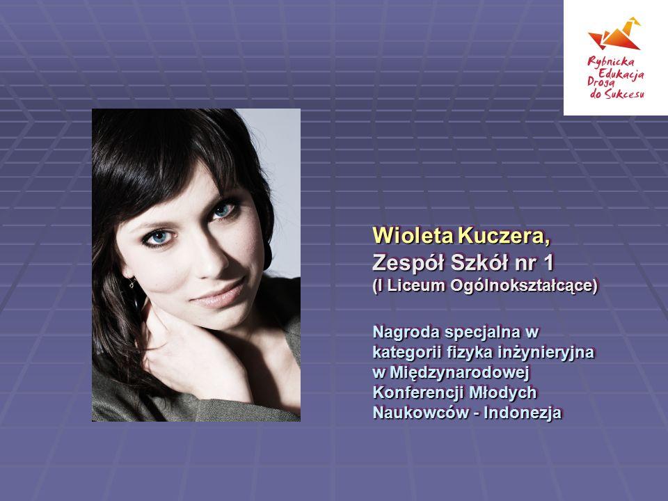 Wioleta Kuczera, Zespół Szkół nr 1 (I Liceum Ogólnokształcące)