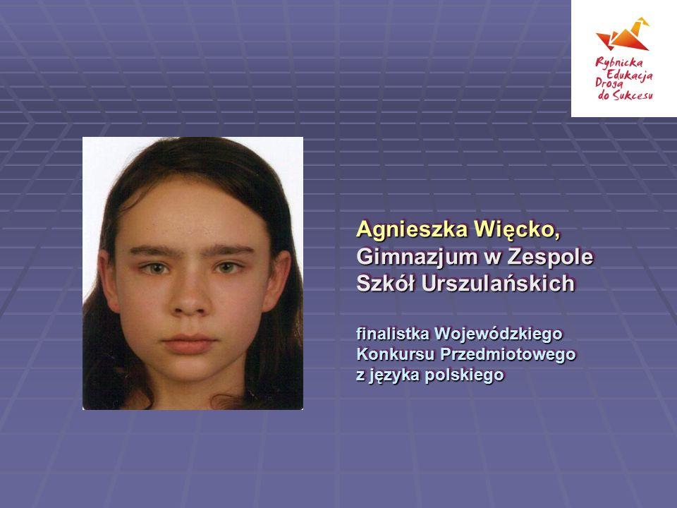 Agnieszka Więcko, Gimnazjum w Zespole Szkół Urszulańskich