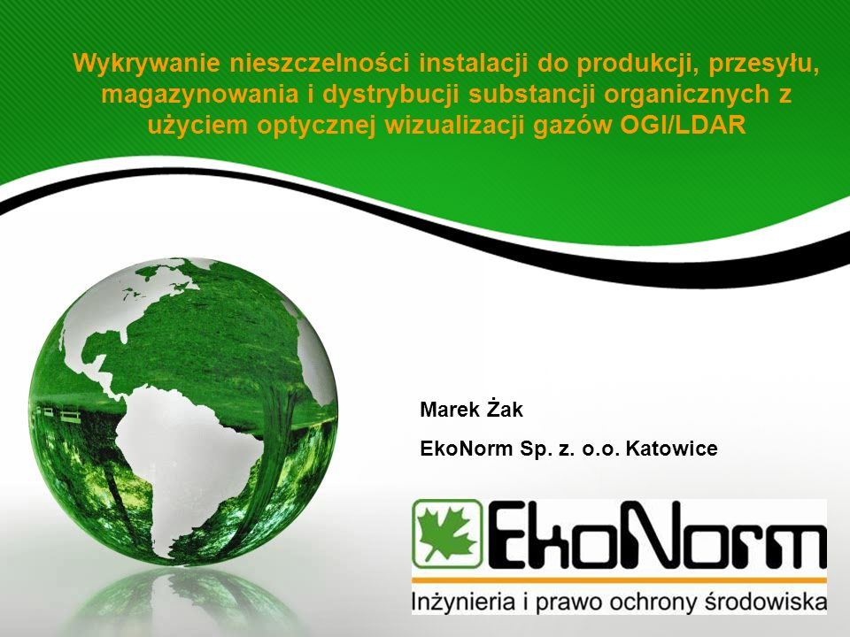 Marek Żak EkoNorm Sp. z. o.o. Katowice