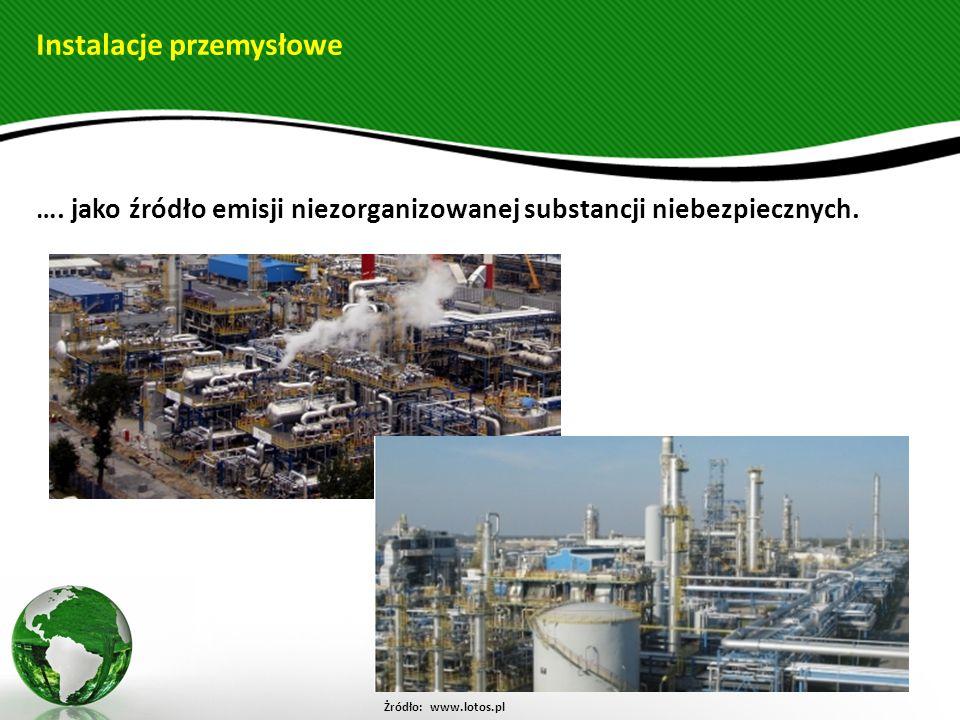…. jako źródło emisji niezorganizowanej substancji niebezpiecznych.