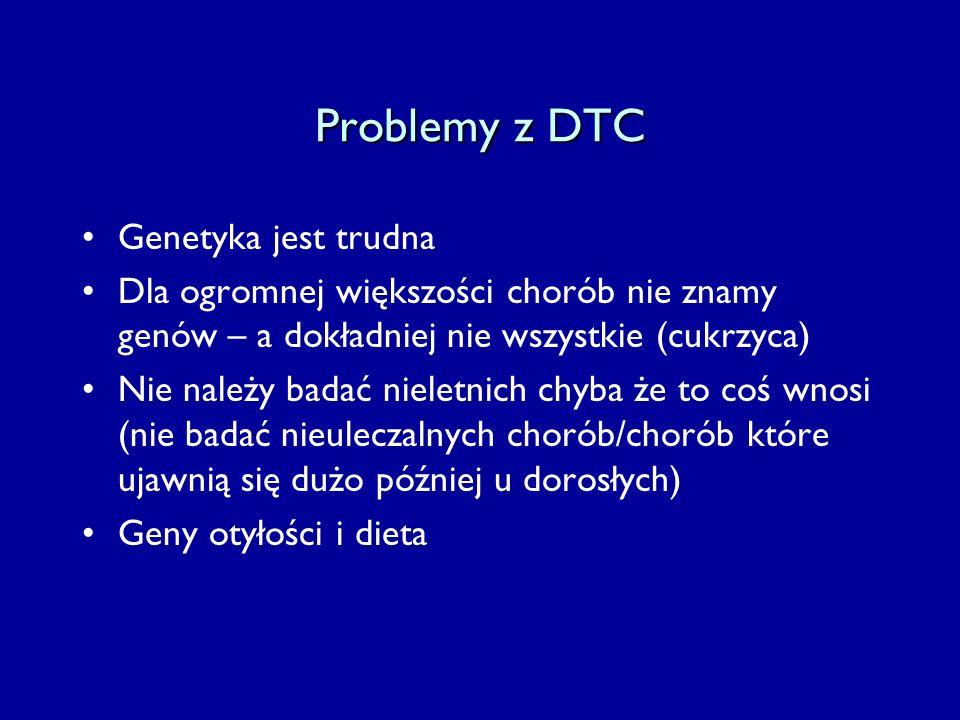 Problemy z DTC Genetyka jest trudna