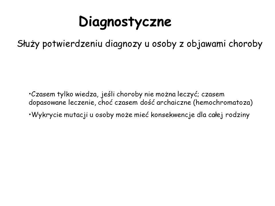 Służy potwierdzeniu diagnozy u osoby z objawami choroby