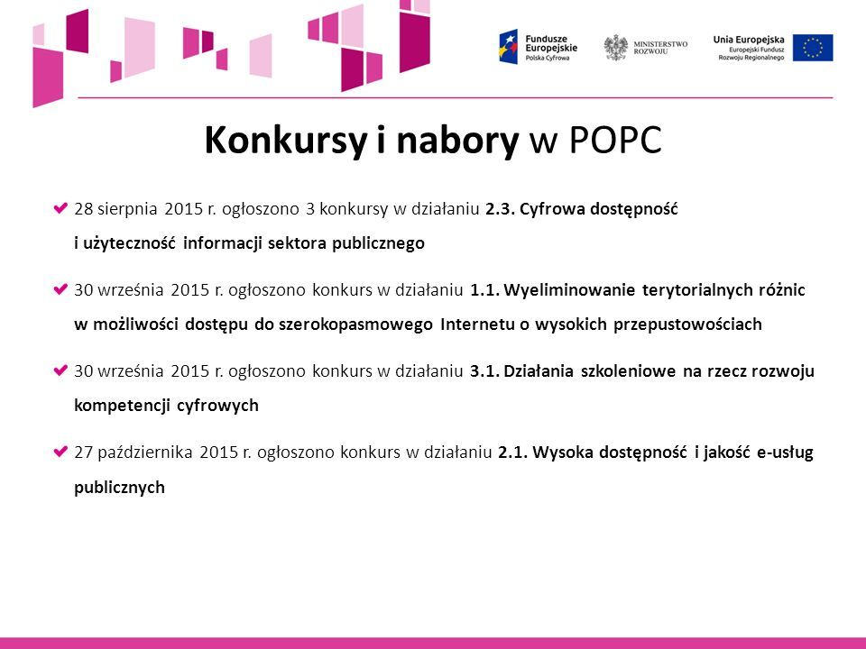 Konkursy i nabory w POPC