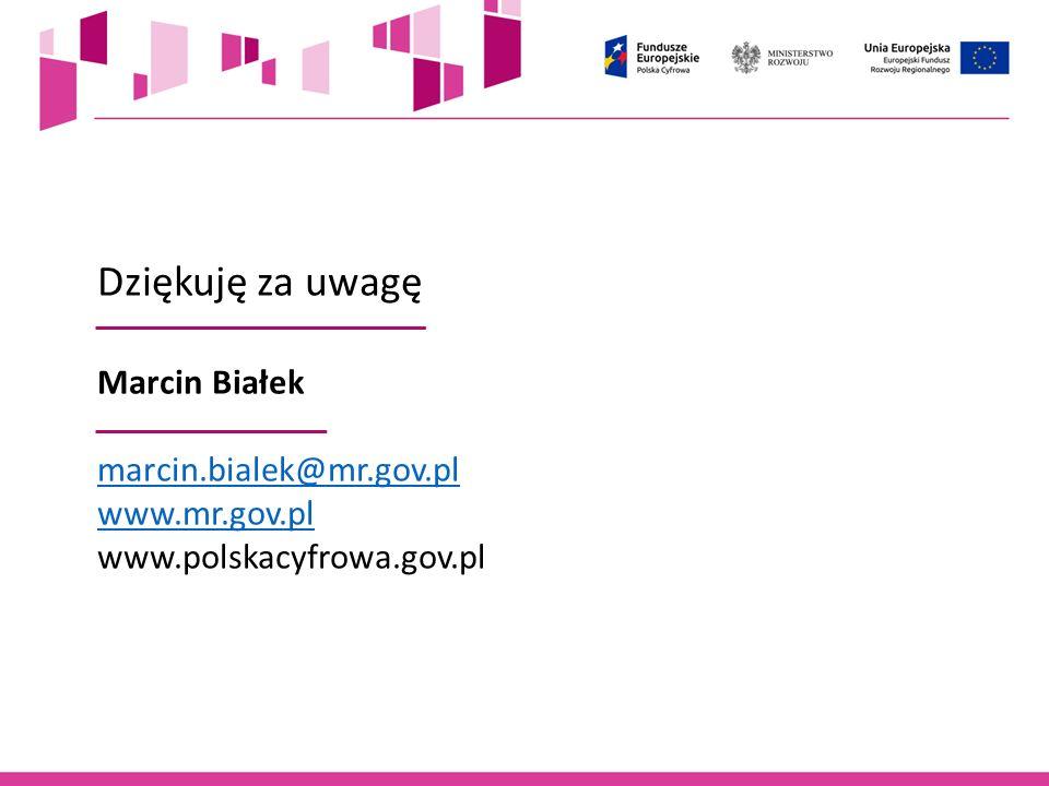 Dziękuję za uwagę Marcin Białek