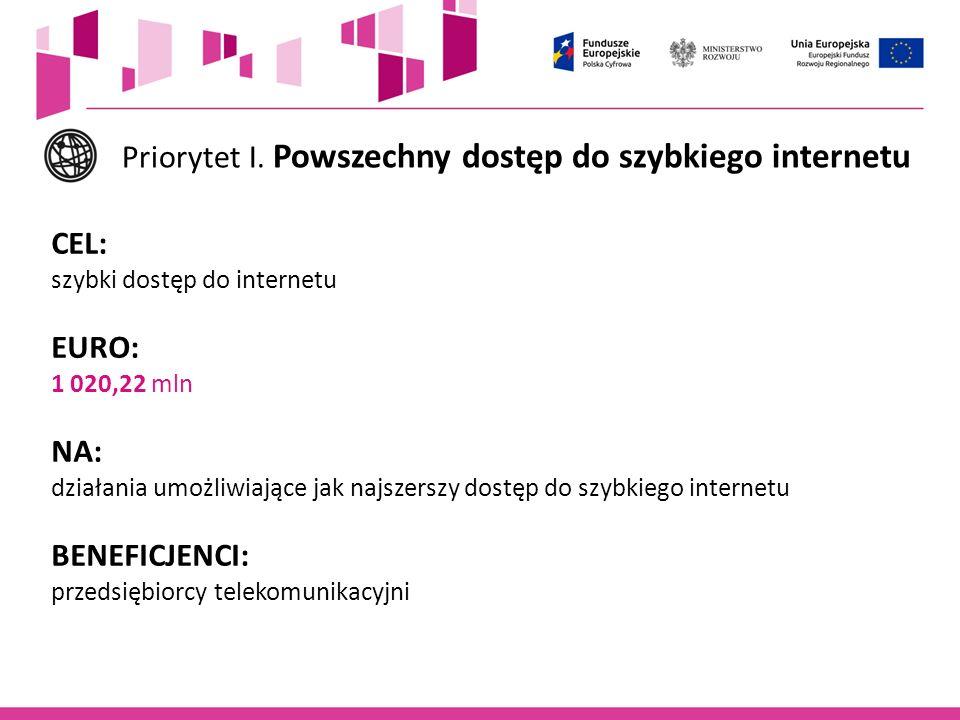 Priorytet I. Powszechny dostęp do szybkiego internetu