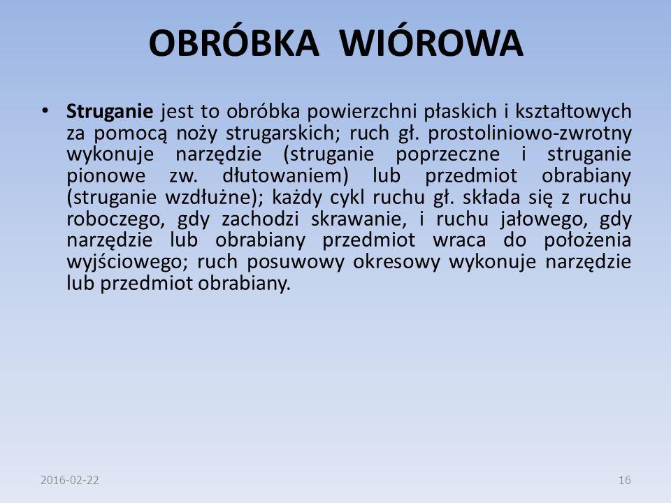 OBRÓBKA WIÓROWA