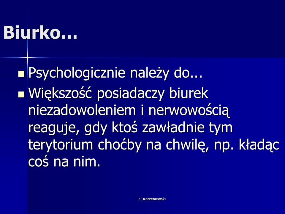 Biurko… Psychologicznie należy do...