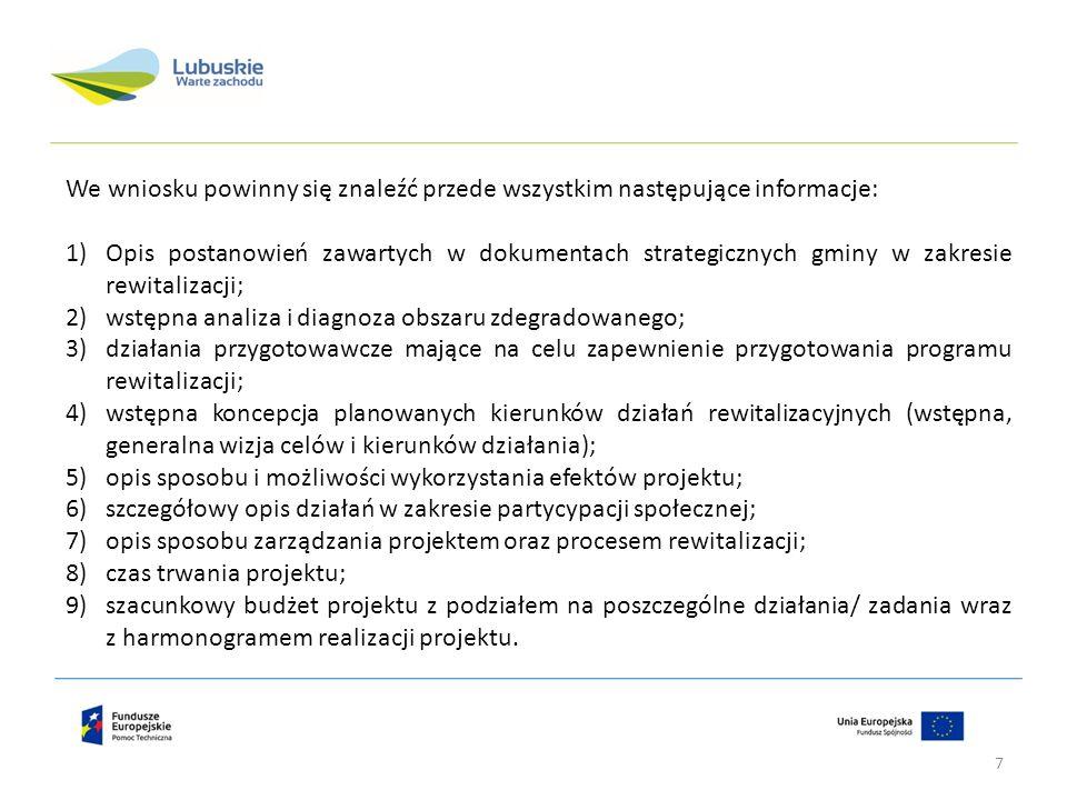We wniosku powinny się znaleźć przede wszystkim następujące informacje: