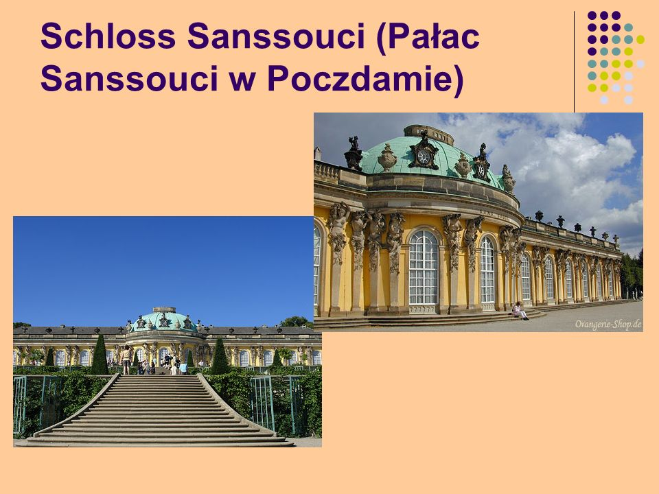 Schloss Sanssouci (Pałac Sanssouci w Poczdamie)