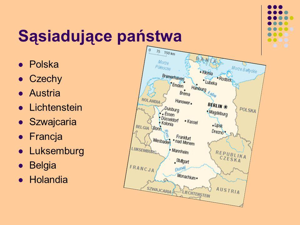 Sąsiadujące państwa Polska Czechy Austria Lichtenstein Szwajcaria