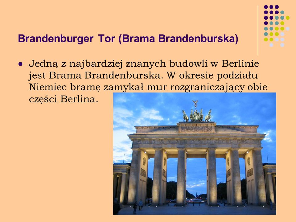Brandenburger Tor (Brama Brandenburska)