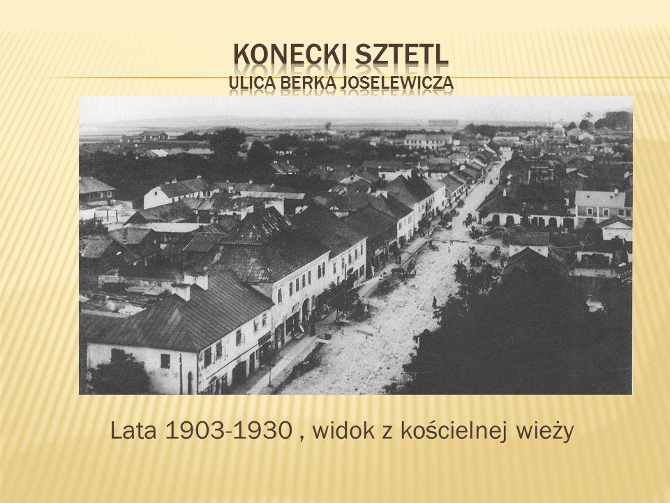 Konecki sztetl ulica berka Joselewicza