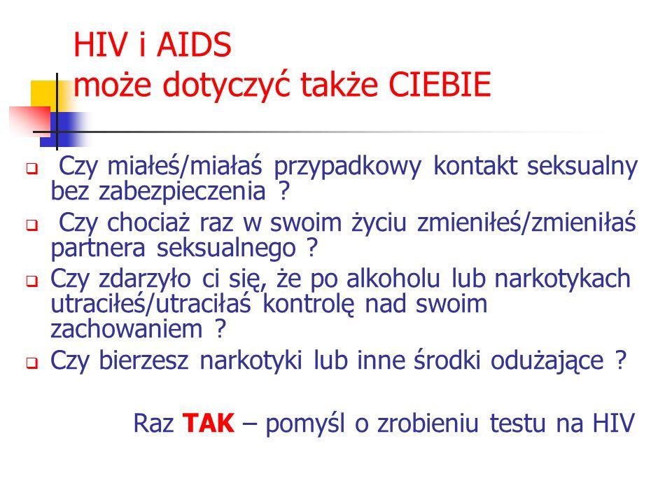 HIV i AIDS może dotyczyć także CIEBIE