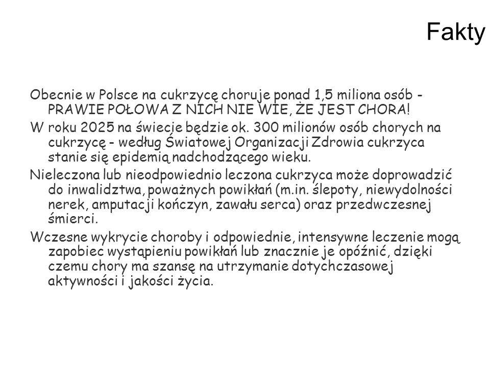 Fakty Obecnie w Polsce na cukrzycę choruje ponad 1,5 miliona osób - PRAWIE POŁOWA Z NICH NIE WIE, ŻE JEST CHORA!