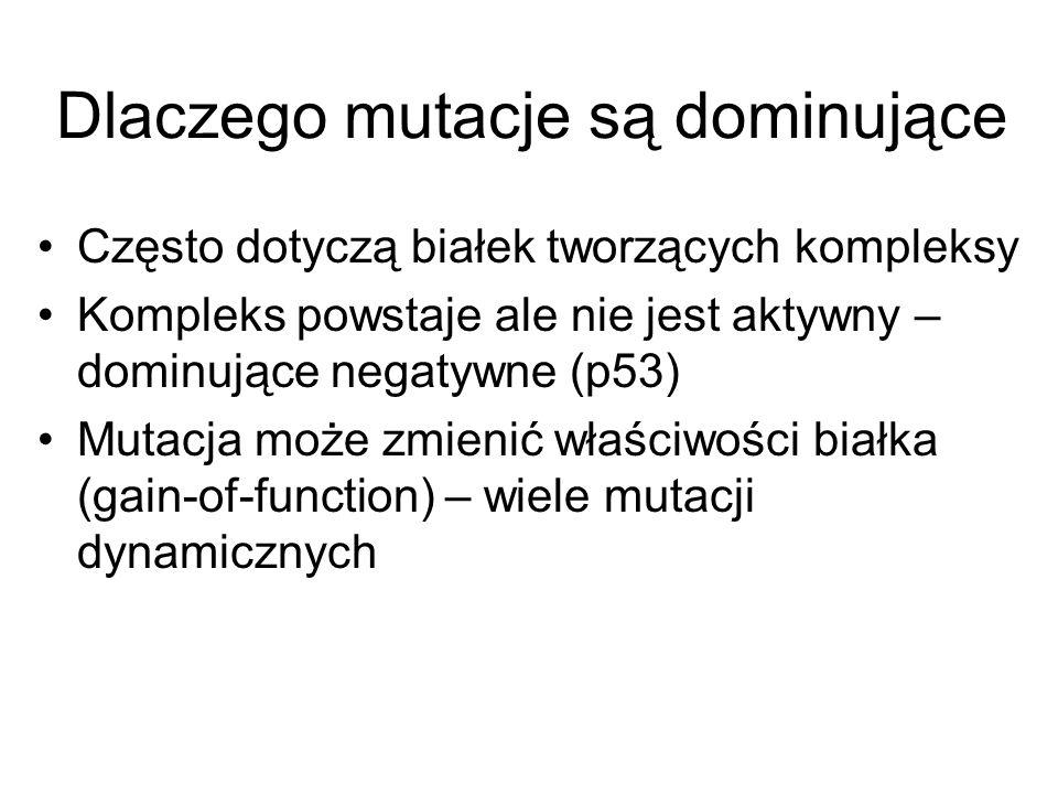 Dlaczego mutacje są dominujące