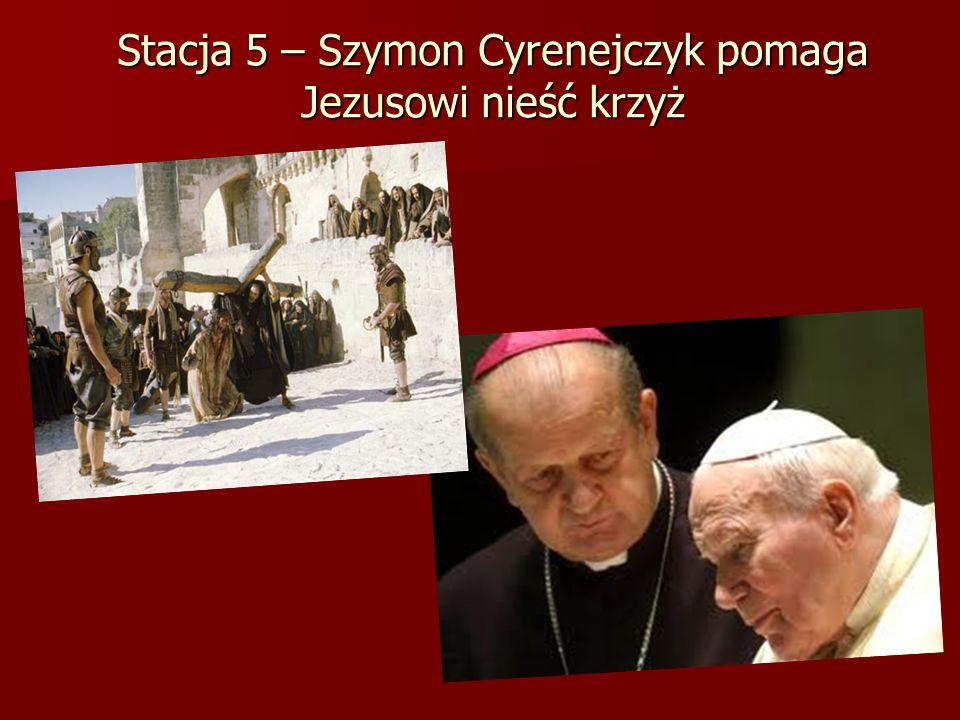 Stacja 5 – Szymon Cyrenejczyk pomaga Jezusowi nieść krzyż