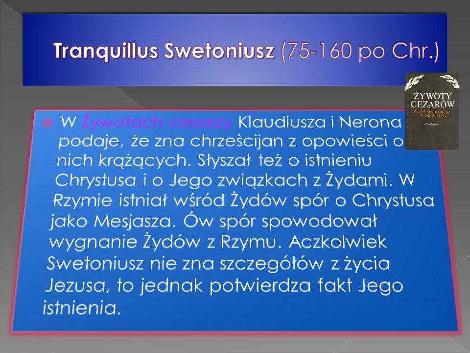 Tranquillus Swetoniusz (75-160 po Chr.)