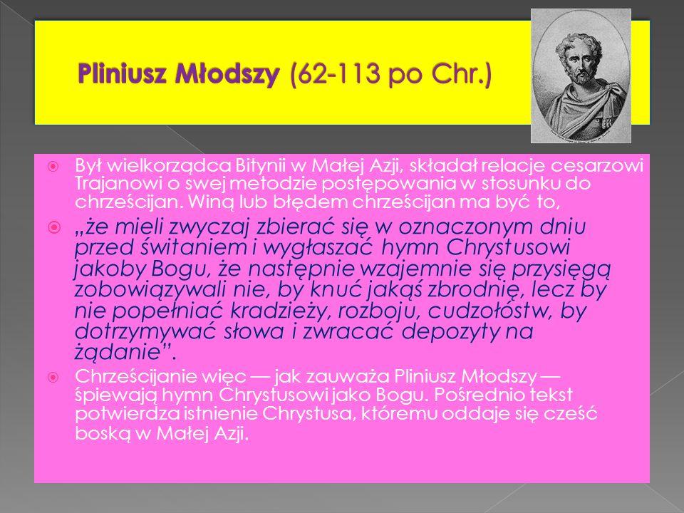 Pliniusz Młodszy (62-113 po Chr.)