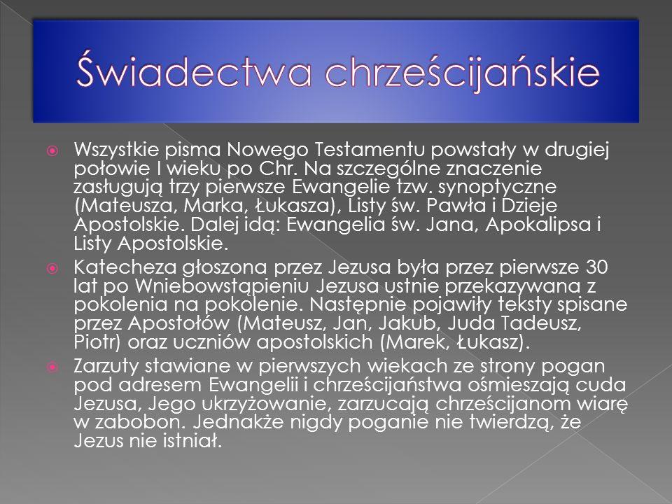 Świadectwa chrześcijańskie