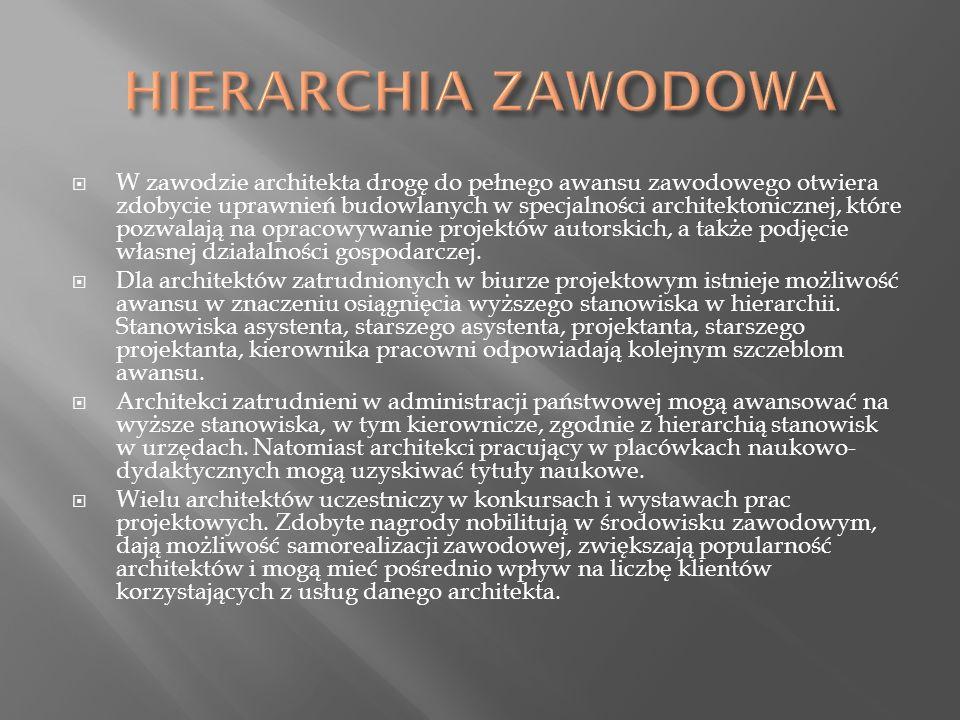 HIERARCHIA ZAWODOWA