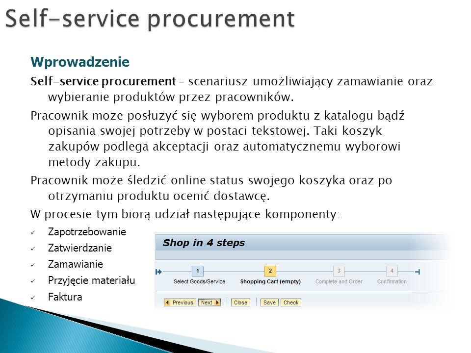 Self-service procurement