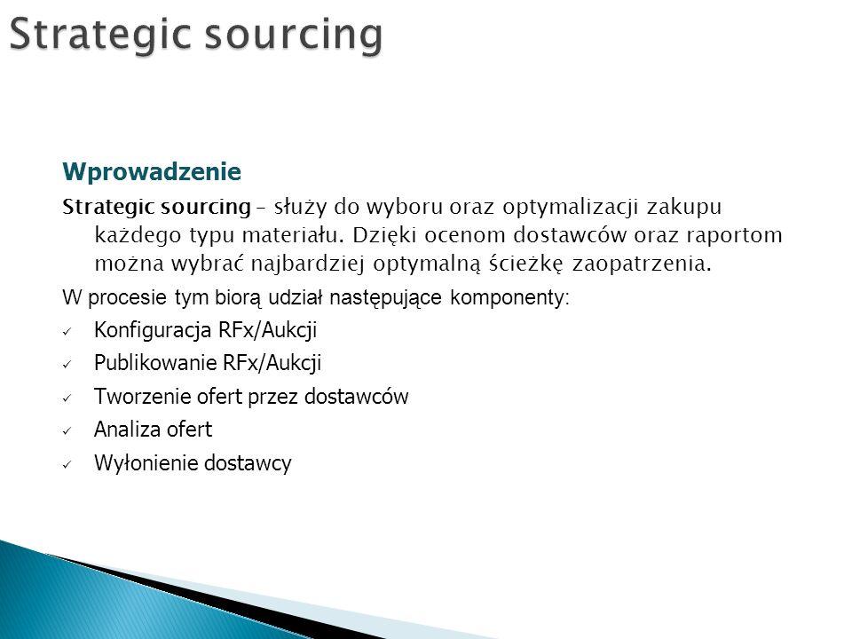 Strategic sourcing Wprowadzenie