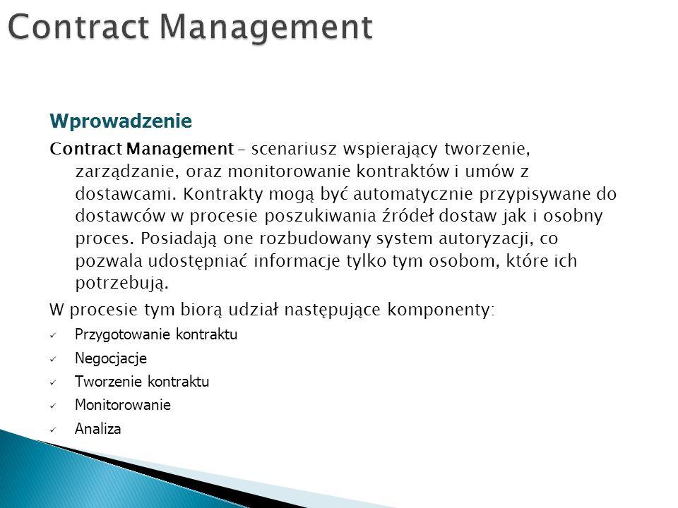 Contract Management Wprowadzenie