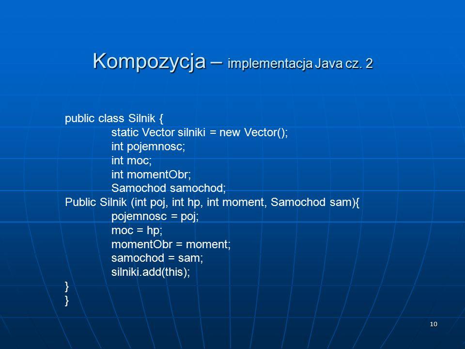 Kompozycja – implementacja Java cz. 2